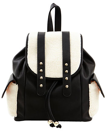 BIG BUDDHA Doris Sherpa-Paneled Backpack