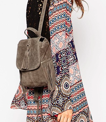 Asos suede mini backpack