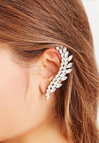 Forever 21 faux gemstone ear cuff