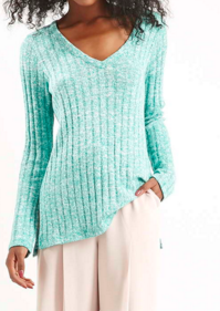Topshop ribbed blue sweater