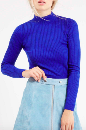 Topshop blue cropped sweater
