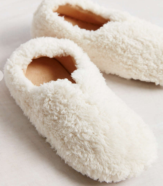 UO fluffy slippers