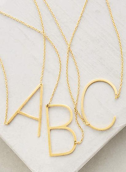 Anthropologie monogram necklace