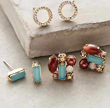 Post Paradise earring set