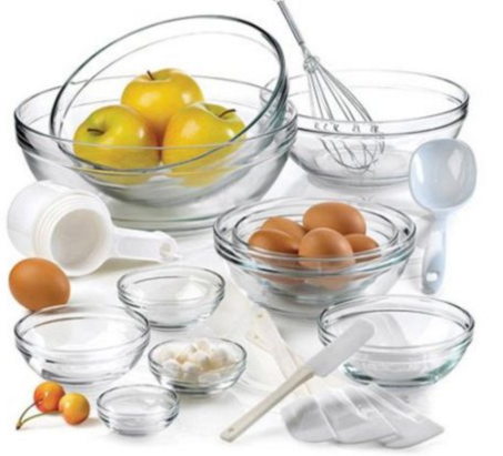 Anchor Hocking 10-Piece Mixing Bowl Set with Kitchen Gadges and Kitchen Tools