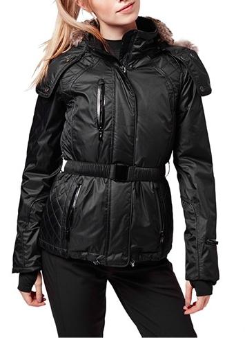 Topshop 'Catelyn' Faux Fur Belted Jacket