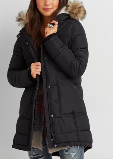 AEO long puffer coat