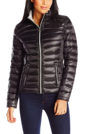 Laundry Women's Short Packable Down Jacket and Bag