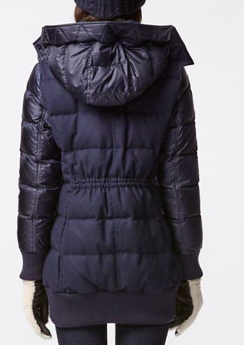 Uniqlo WOMEN DOWN HOODED RIBBED COAT