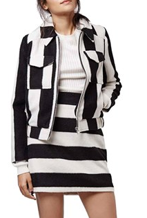 Topshop black and white striped jacket