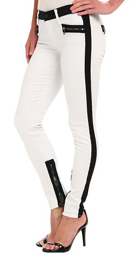 Hudson Chelsea Colorblock Skinny jeans