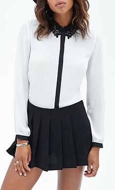 Forever 21 black and white button down