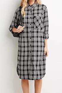 Forever 21 black and white plaid dress