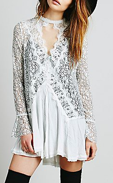 Free People black and white lace dress