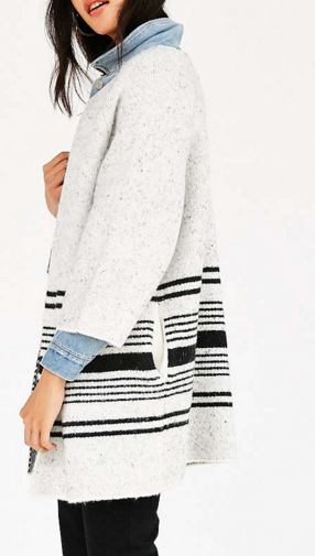 Native Youth Jacquard Knit Coat