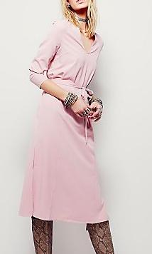 Free People pastel wrap dress