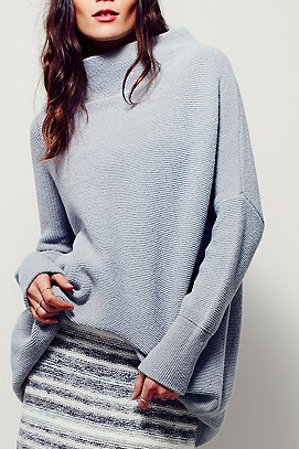 Free People pastel oversized sweater