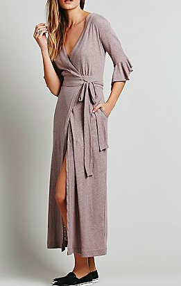 Free People maxi wrap dress
