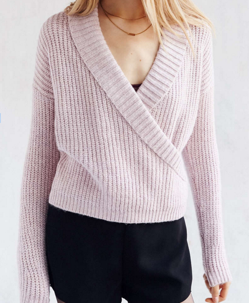 Urban Outfitters pastel shawl sweater