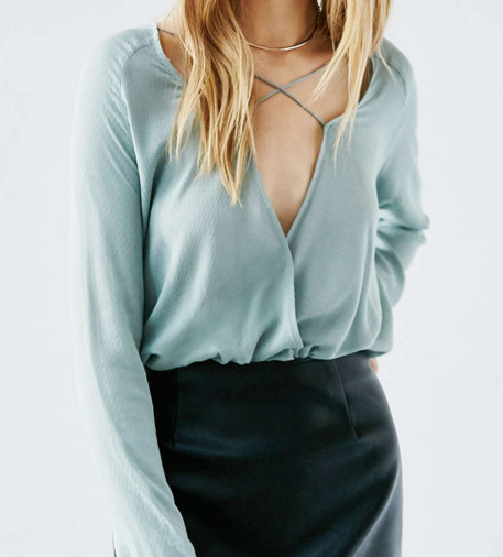 Urban Outfitters lace up top