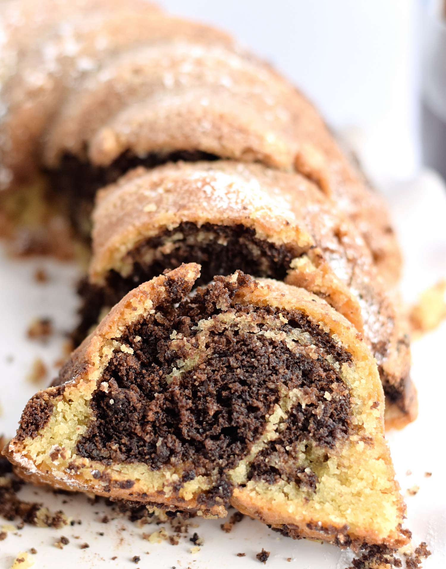 Perfect Marble Cake: so tender, soft, and full of flavor and moisture. Best marble cake I've ever had! Video included! | TrufflesandTrends.com