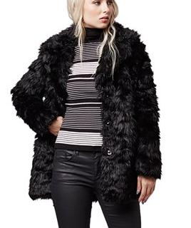 Topshop shaggy faux fur coat