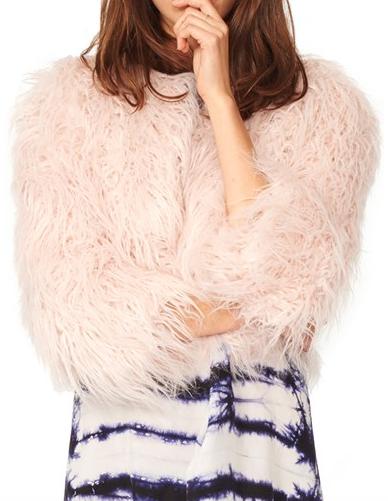 n:PHILANTHROPY 'Georgie' Crop Faux Fur Jacket