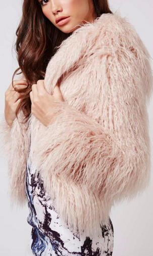 Faux Fur Hooded Coat By Kendall + Kylie at Topshop