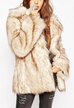 ASOS PETITE Vintage Faux Fur Coat
