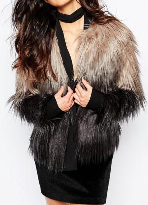 Unreal Fur Dream Jacket in Gray Ombre