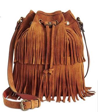 Patricia Nash Suede Bronte Bucket Bag