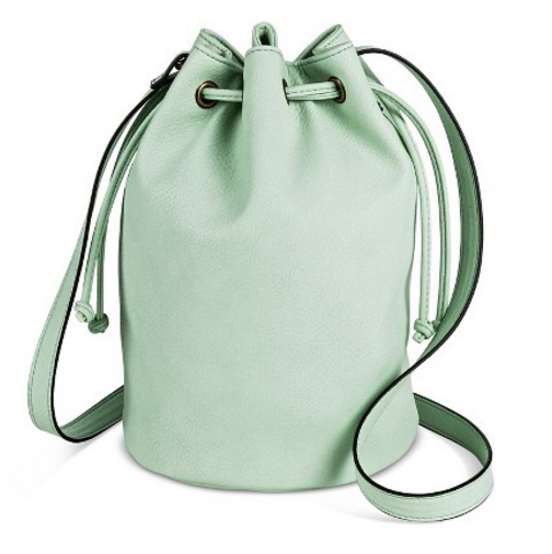 Target Women's Drawstring Crossbody Bucket Handbag