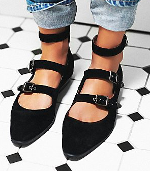 Jeffrey Campbell Melbourne Buckle Flat