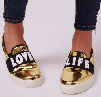 Topshop love life sneakers