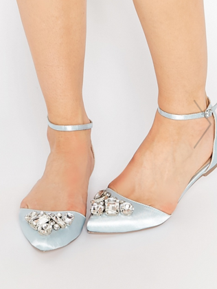 ASOS LEGEND Pointed Ballet Flats