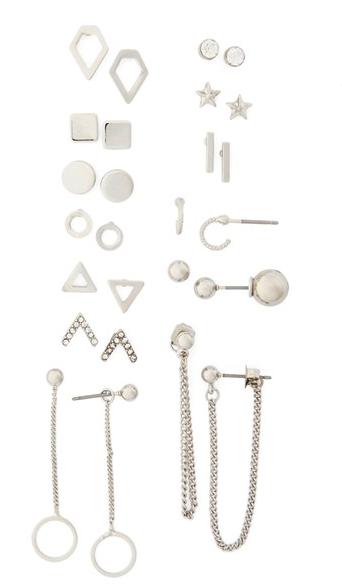 Topshop 13 pair earring set