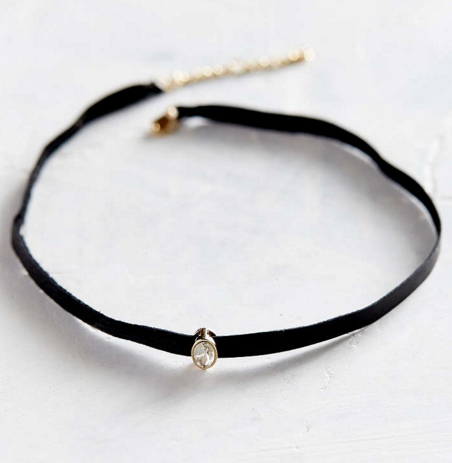 Only Love leather choker