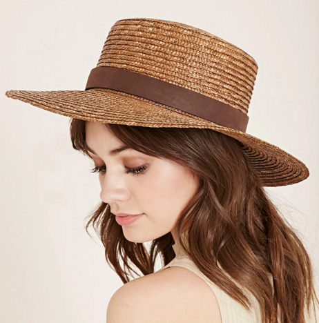 Forever 21 straw boater hat