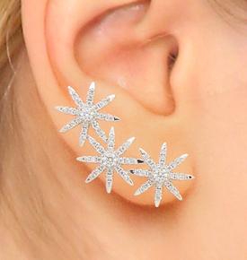 Kenneth Jay star ear cuffs