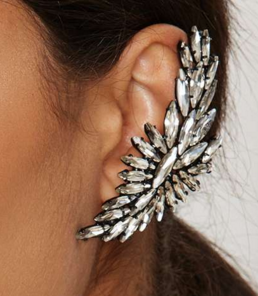 Feather or Not Pavé Ear Cuff