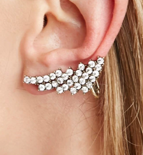 Forever 21 jewel ear cuff