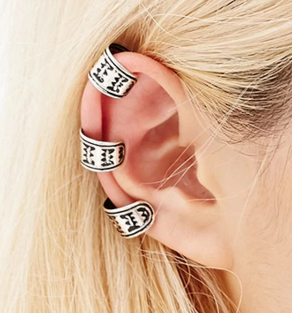 Forever 21 engraved ear cuff