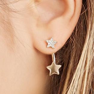 Forever 21 star ear jacket