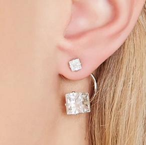 Forever 21 diamond ear jacket