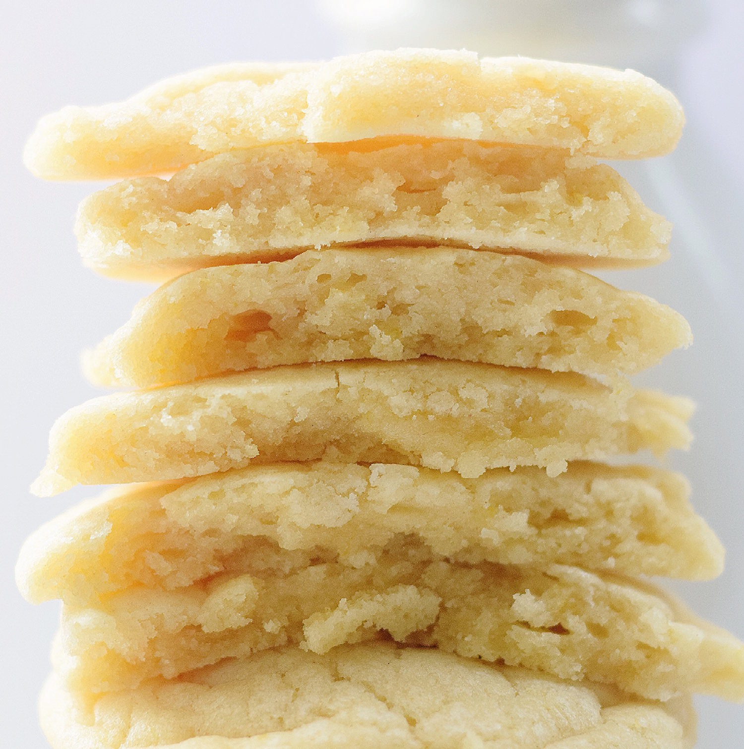 No-Butter Soft Lemon Cookies: soft, chewy, easy cookies full of fresh lemon flavor. So rich and gooey from the coconut oil! | TrufflesandTrends.com