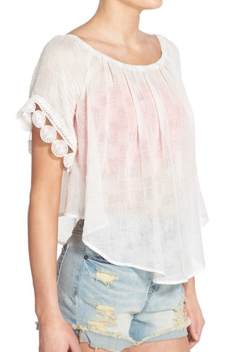 Lush Gauze Off the Shoulder Top