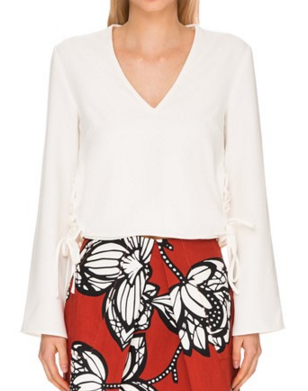 Finders Keepers the Label 'Fly Away' Bell Sleeve Top