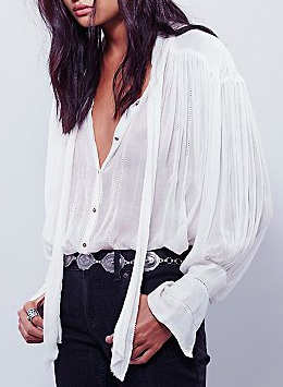 FP One Tie Front Blouse