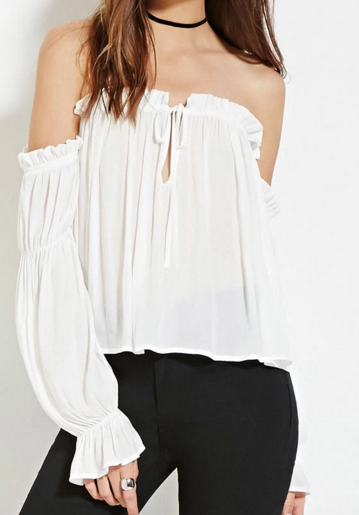 Forever 21 off the shoulder white blouse