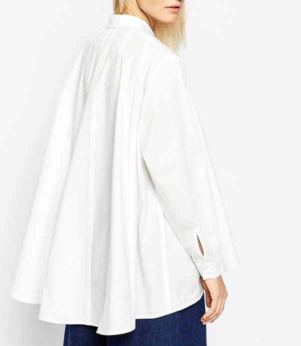 Asos white oversized blouse